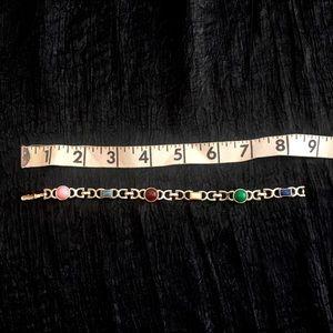 Vintage Sarah Coventry semiprecious stone bracelet